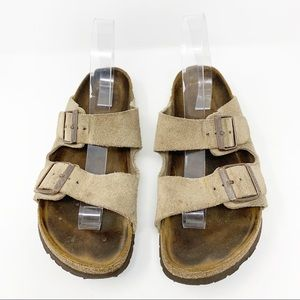 Birkenstock Tan Leather Sandals Size 41/11